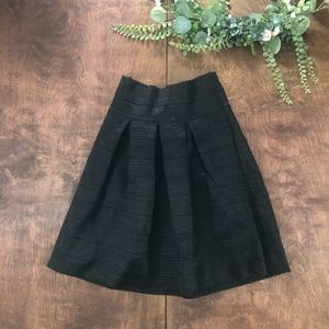 Ann Taylor Pleated High Waisted Midi Skirt